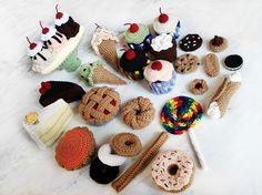 Dessert Crochet Pattern Set by Lilana on Etsy, $17.50