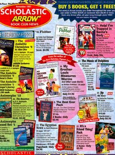 Scholastic book orders. I used to order so many that I couldn't carry them all home. Ahhhhh, to be young again.