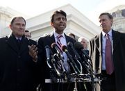 "WASHINGTON -- Gov. Bobby Jindal continued his attacks on President Barack Obama, proclaiming just outside the White House Monday (Februrary 23) that Obama is ""unfit to be commander in chief"" based on his refusal to commit resources needed to defeat..."