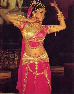 Madhuri Dixit , the first female mega-star of Bollywood , She was famous for her articulate acting and collaborating western dance with Indian classical dance