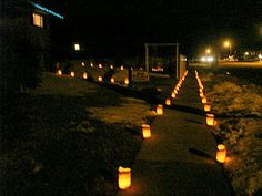 Luminerias 2011 - Candles in brown paper bag Candle Bags, Let's Get Married, Wedding Lighting, Paper Bags, Brown Paper, Craft Gifts, Special Day, Candles, Wedding Ideas