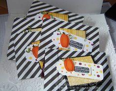 Craft Fair Ideas Stampin Up Holiday Mini Punch art Pumkins  www.sandieskorner.com