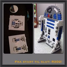 R2D2 Star Wars perler beads by mischalind