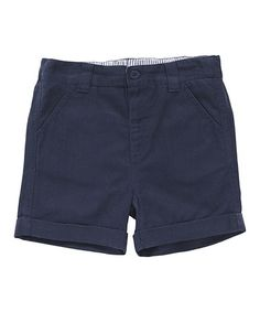 Another great find on #zulily! Navy Chino Shorts - Infant, Toddler & Boys #zulilyfinds