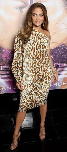 Animal Print  - Jennifer Lopez ...dress leopard