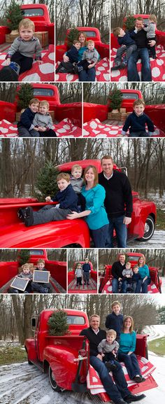 Red Truck Holiday Mini Sessions :: On A Limb Photography
