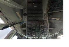 Intérieur d'un cockpit d'un Boeing 747 site Musée air et espace Bourget