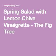 Spring Salad with Lemon Chive Vinaigrette - The Fig Tree