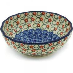 Polish Pottery #1804X Ceramika Artystyczna, Boleslawiec Pattern P7580A