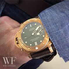 #Panerai patina - a very nice bronze pam382 being rocked today