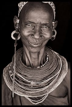 Amazing smile from a Rendille woman, North Kenya John Kenny