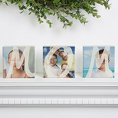 Such a cute Mother's Day gift idea! Personalize these cute photo blocks with her favorite photos!