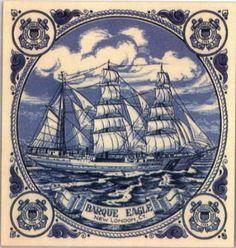 """Personalized Items - US Coast Guard, """"Barque Eagle""""."""