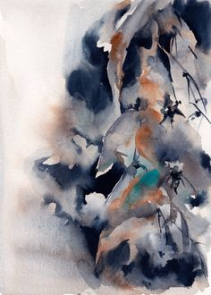 Abstract Watercolor Painting, Original Watercolour Painting Art, Floral…