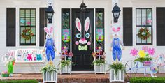 Today's Home.... Outside Easter Decorations.