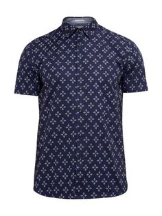 fe7e4cd1c2b4d3 Ted Baker Waaze Geo Print Cotton Shirt - House of Fraser