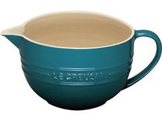 Stoneware Batter Bowl (2-qt.): Caribbean by Le Creuset at Epicurious Shop