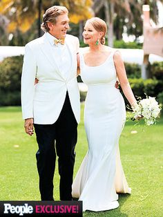 Lisa Niemi Marries Albert DePrisco: See the Photos gorgeous dress!!! perfect. elegant and simple.