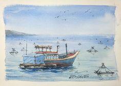 [28.08.2015] Fishing boat #watercolor