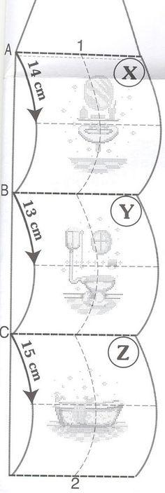 Schema punto croce Portarotoli bagno 6