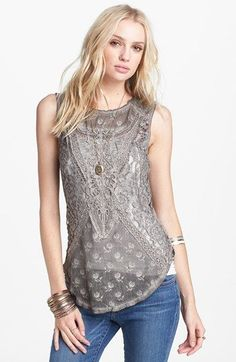 Free People 'Not So Sweet' Lace Tank