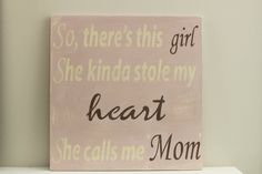 So There's This Girl Wood Wall Art Wood Sign Vintage by InMind4U