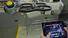 ESA's augmented reality game recreates the International Space Station and requires the user to dock the drone for real.     The game may be fun, but the AstroDrone app is part of a scientific crowdsourcing project by ESA's Advanced Concepts Team, gathering data to teach robots to navigate their environments.  The data will be gathered to improve the way robots see distances.