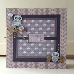 Crafting on holiday in the Lake District making Owl Folk cards - here's what I made! Craft Projects, Projects To Try, Owl Card, Lake District, Owls, Cardmaking, Kitten, Paper Crafts, Frame