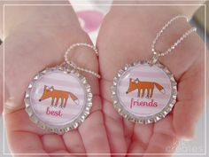 How to make Bottle Cap necklaces. Would be cute to do with jakilyn