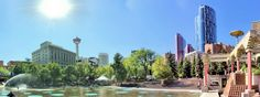 Olympic Plaza by Neil Zeller. Stuff To Do, Things To Do, Alberta Canada, Calgary, Olympics, New York Skyline, Cities, Events, Spaces