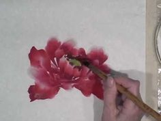 Peony Demo Part 1 of 3 by Virginia Lloyd-Davis, Chinese watercolor painting