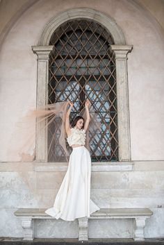 Romina Fochesatto is a bespoke wedding dress designer who focuses on couture design, hand embroidered details and luxurious draped fabric. Designer Wedding Dresses, Bridal Dresses, Bridal Separates, Festival Dress, Industrial Wedding, Image Photography, Fashion History, Bespoke, Wedding Styles
