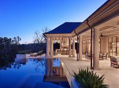 Valley Spring | Ryan Street & Associates Hot Tub Backyard, Backyard Pool Landscaping, Dream Mansion, French Style Homes, Property Design, Beautiful Pools, Backyard Makeover, Dream House Exterior, Building A New Home