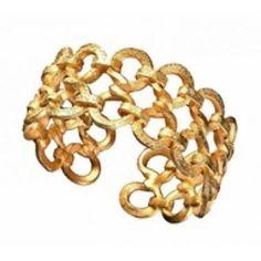 Gold, circle link, chain cuff