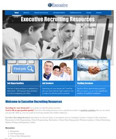 Redesigned website for Executive Recruiting Resources (staffing services industry) using the existing CMS allowing ease of maintenance and cost-effective editing for client. Job Offer, Find A Job, Dream Job, Dreaming Of You, Resume, Positivity, Website, Design, Curriculum