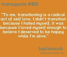 It Gets Better — cooperxv: Trans Boys, Trans Man, Transgender Quotes Ftm, Transgender Tattoo Ideas, Lgbt Quotes, It Gets Better, I Deserve, Love You, My Love