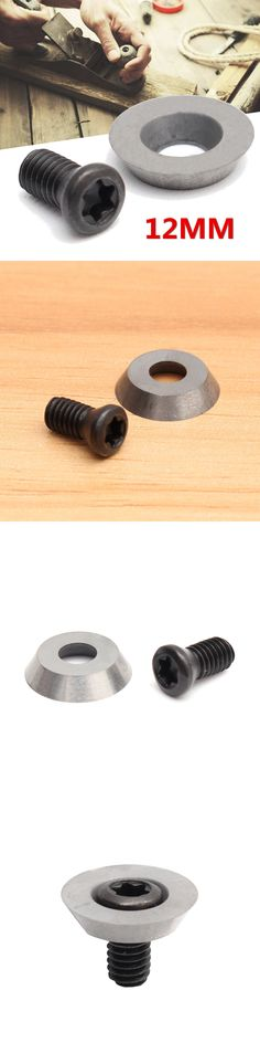 1//5//10PCS 12mm Round Carbide Insert Cutter with Screws for Ci3 Wood Turning