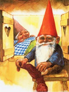 "Rien Poortvliet (1932-1995) —  Gnome Elf David and Lisa ""The Secret Book of Gnomes"" by Wil Huygen   (1129x1500)"