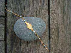 Gold Hamsa Bracelet GOLD FILLED BRACELET por cocolocca en Etsy