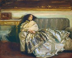 "Female Portrait Print, John Singer Sargent Art (Fashion Print, Sleep Art Print) ""The Woman in Repose"
