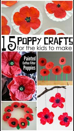 Beautiful Red Poppy Crafts for Kids to Make - Crafty Morning - - Here are some gorgeous poppy crafts for kids to make for remembrance or veterans day! Poppy Craft For Kids, Crafts For Kids To Make, Art For Kids, Remembrance Day Activities, Remembrance Day Poppy, Kindergarten Crafts, Preschool Crafts, Diy Crafts, Paper Plate Poppy Craft