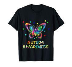 Butterfly Autism Awareness T-Shirt, Van Hippie colour shirt