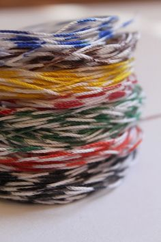 make your own Bakers Twine in ANY color for pennies