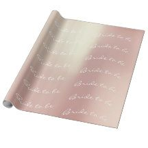 Personalized Brush Bride to be Champaign Pink Wrapping Paper