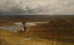 Robert Swain Gifford, American Tonalist, Naushoun, oil on canvas