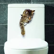 Cheap home decor, Buy Quality cat wall stickers directly from China stickers bathroom Suppliers: Hole View Cats Wall Sticker Bathroom Living Room Home Decor for Animal Vinyl Decals Art Poster cute Toilet Stickers Decoration Stickers, Wall Decor Stickers, Vinyl Decals, Wall Decals, Cat Stickers, Stickers Online, Wall Vinyl, Window Stickers, Vinyl Art