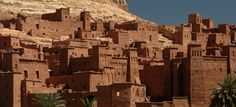 The entire village of Ait Benhaddou, Morocco is rammed earth. Morocco Tourism, Morocco Travel, Marrakech, Real Life Games, Travel Around The World, Around The Worlds, Rammed Earth Homes, Architecture, Monument Valley