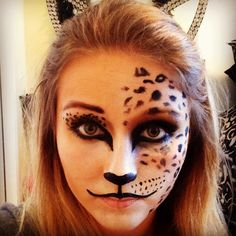 My Halloween makeup #halloween #makeup #cheetah