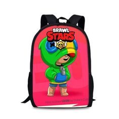 Students Game School Book Bag Brawl Stars Backpack Teenagers Shoulder Bags Back to School Gift Student Games, Back To School Gifts, Designer Backpacks, Baby Car Seats, Shoulder Strap, Stars, Children, Books, Young Children