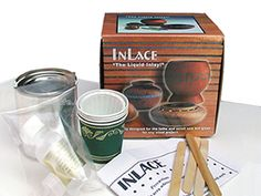 Inlace Liquid Inlay Kit.  Make turquoise inlay into wooden cutting board!